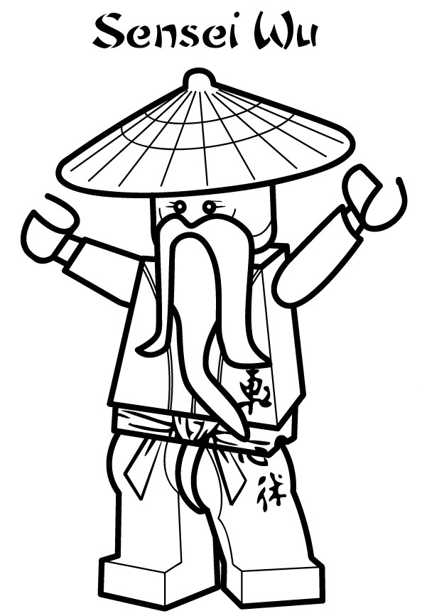 Ninjago Coloring Pages Sensei Wu