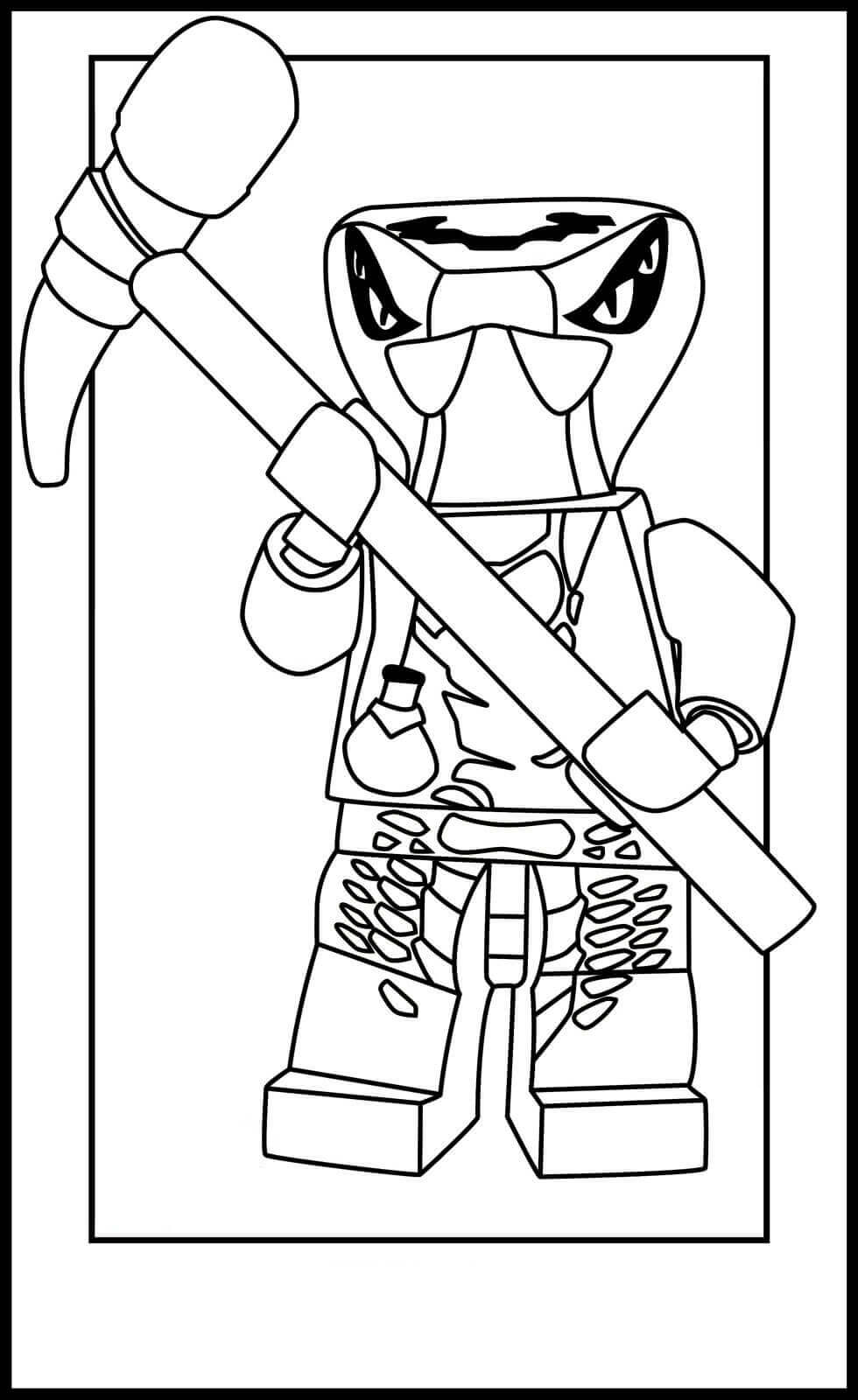 Ninjago Serpentine Spitta Coloring Pages