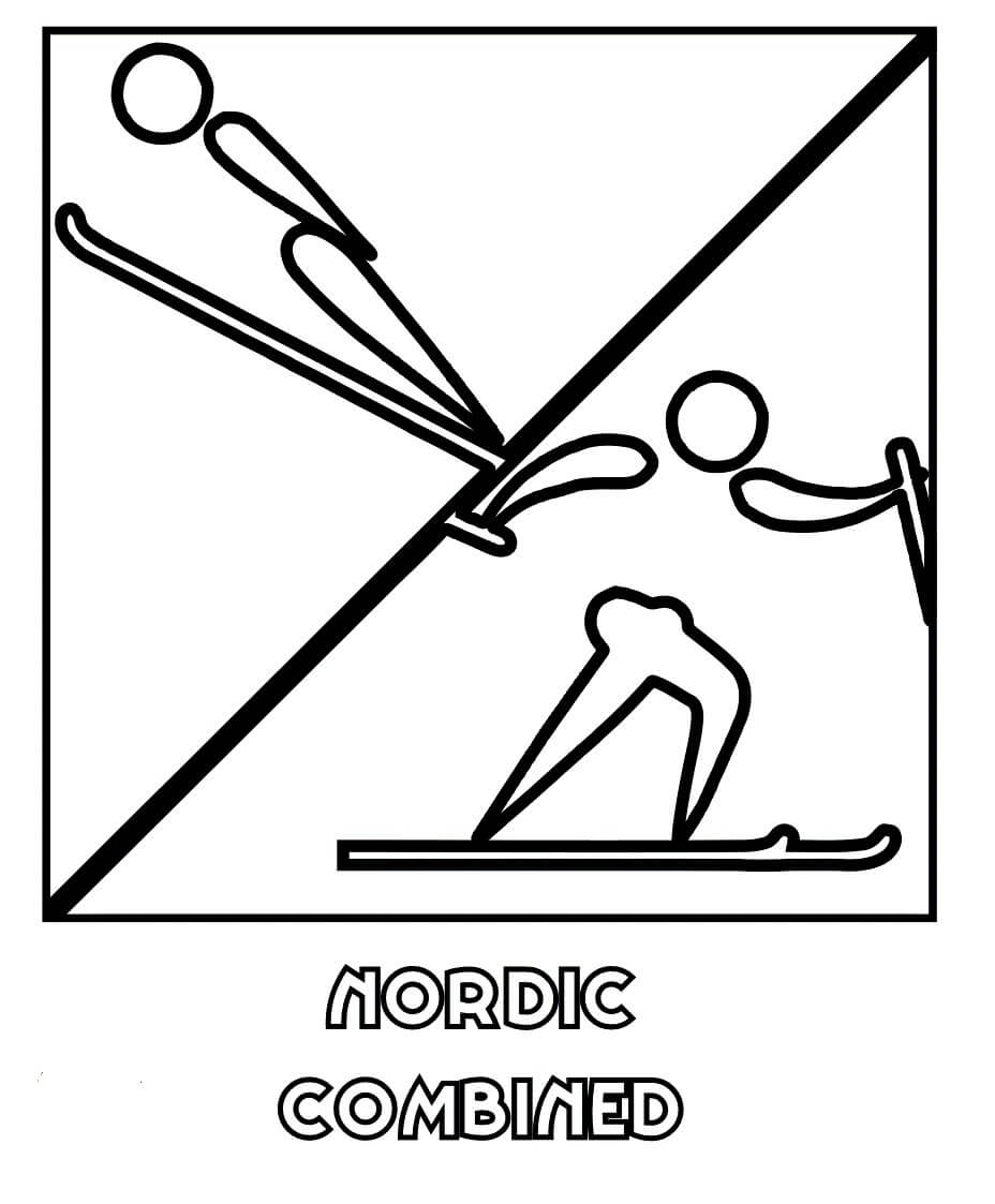 Nordic Combined Winter Olympics Coloring Pages