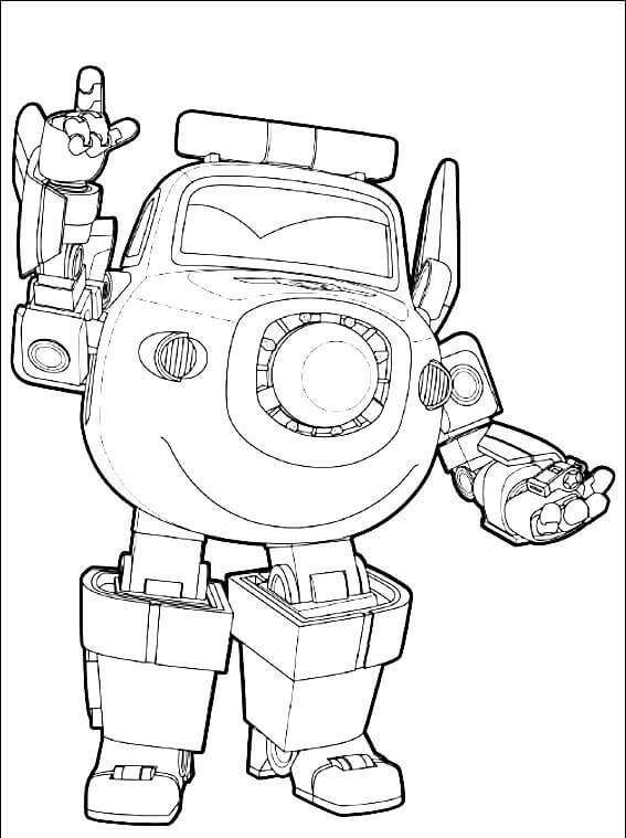 Paul from Super Wings Coloring Pages
