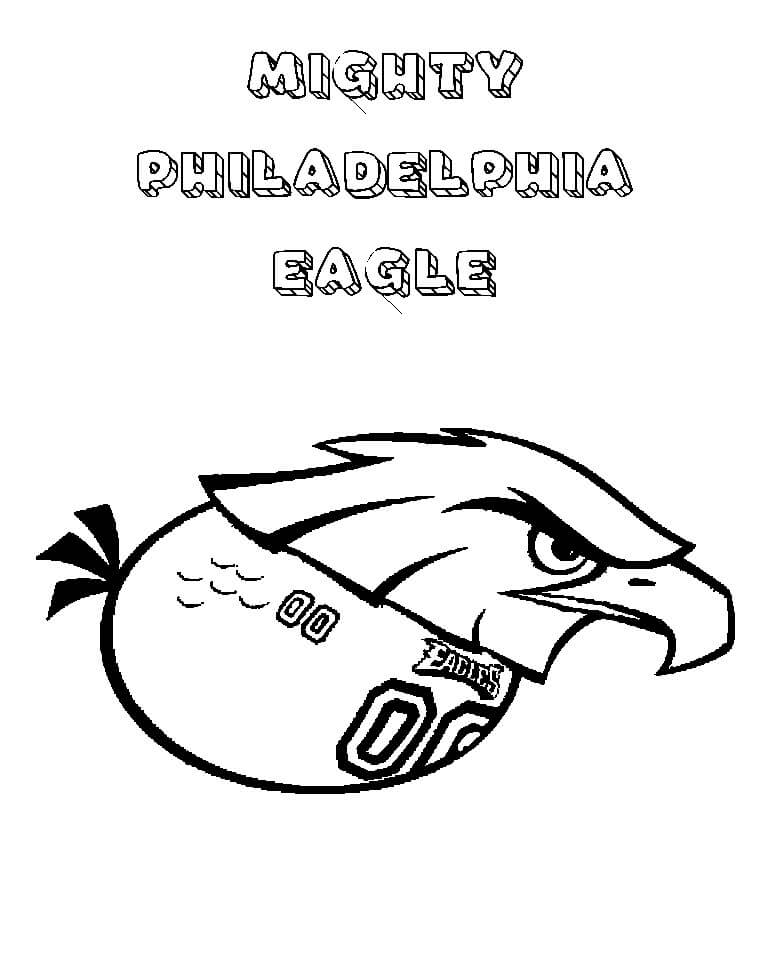 angry birds philadelphia eagles coloring page - Coloring Page Eagle