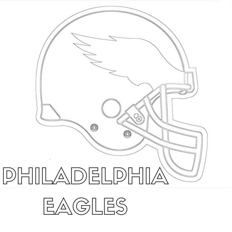 Philadelphia Eagles Coloring Pages Helmet