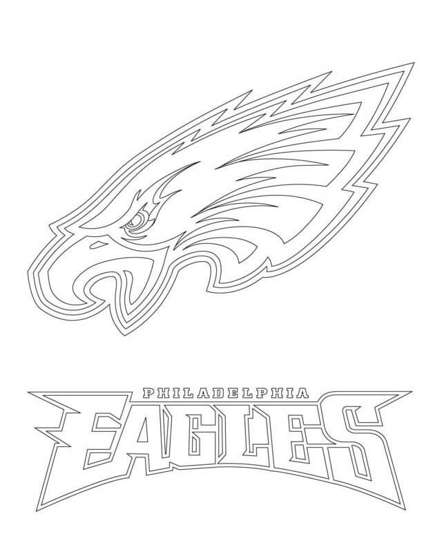 Philadelphia Eagles Coloring Pages Logo