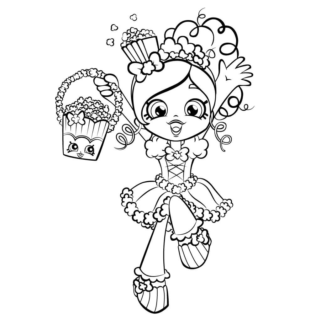 Popette Shopkins Shoppies coloring pages