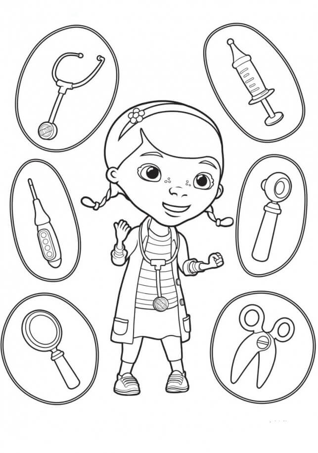 Printable Doc McStuffins coloring pages