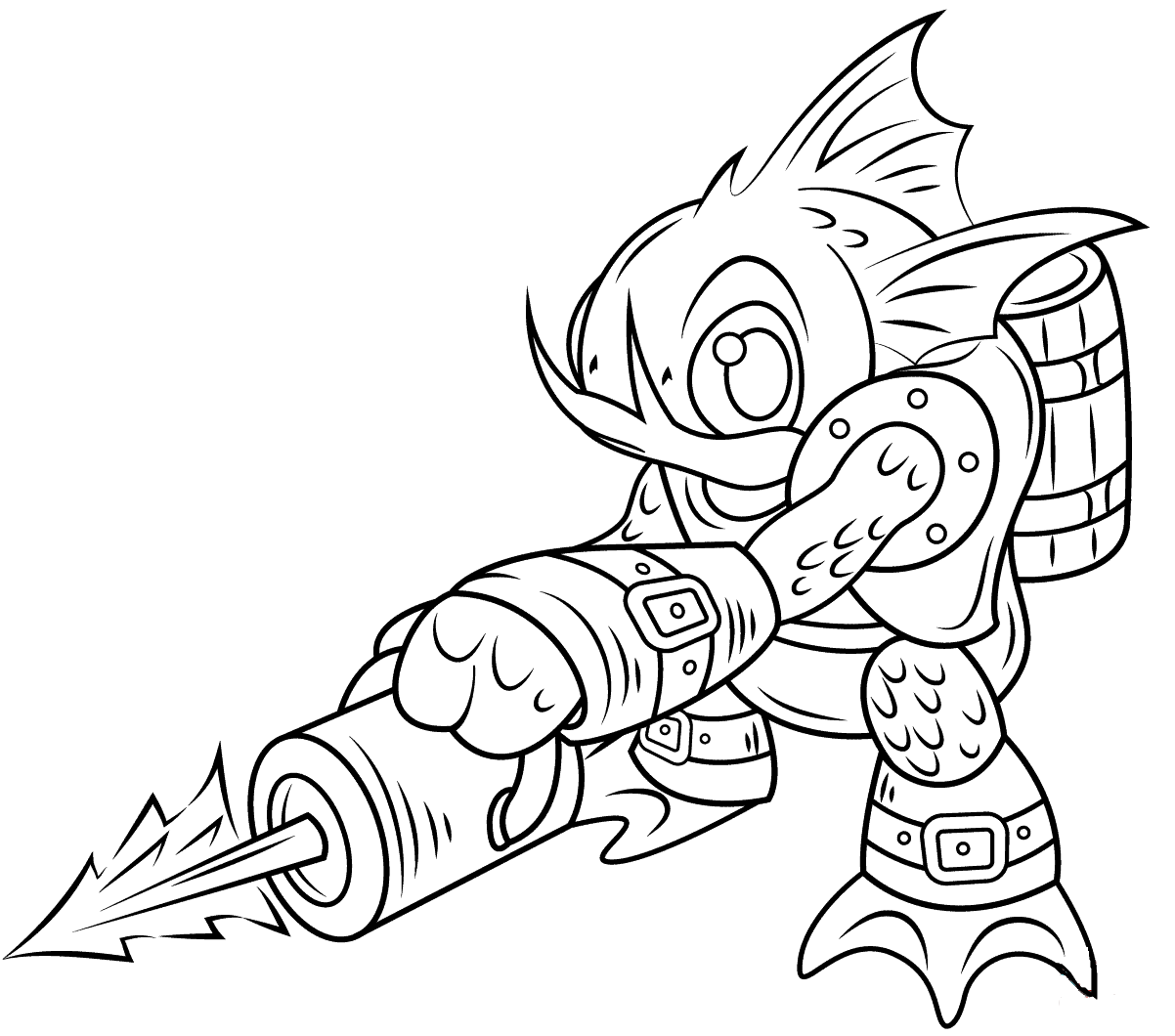 Printable Gill Skylanders Coloring Pages