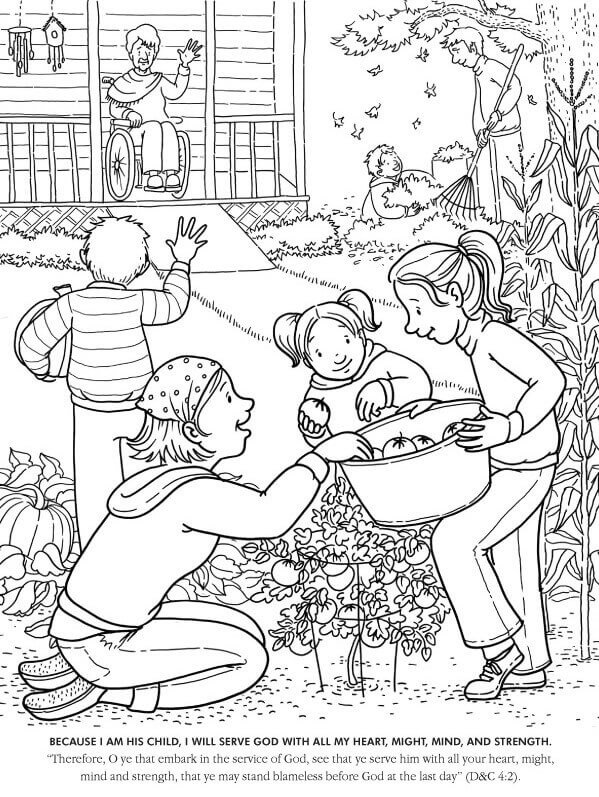 Printable Latter Day Saints Colouring Pages