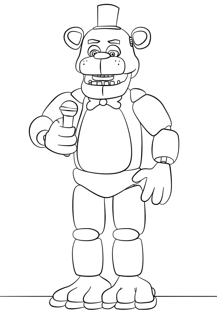 Invaluable image regarding fnaf coloring pages printable