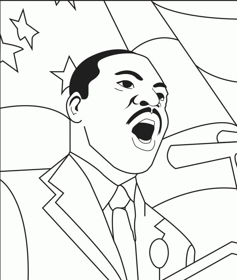 Printable MLK Day Coloring Pages