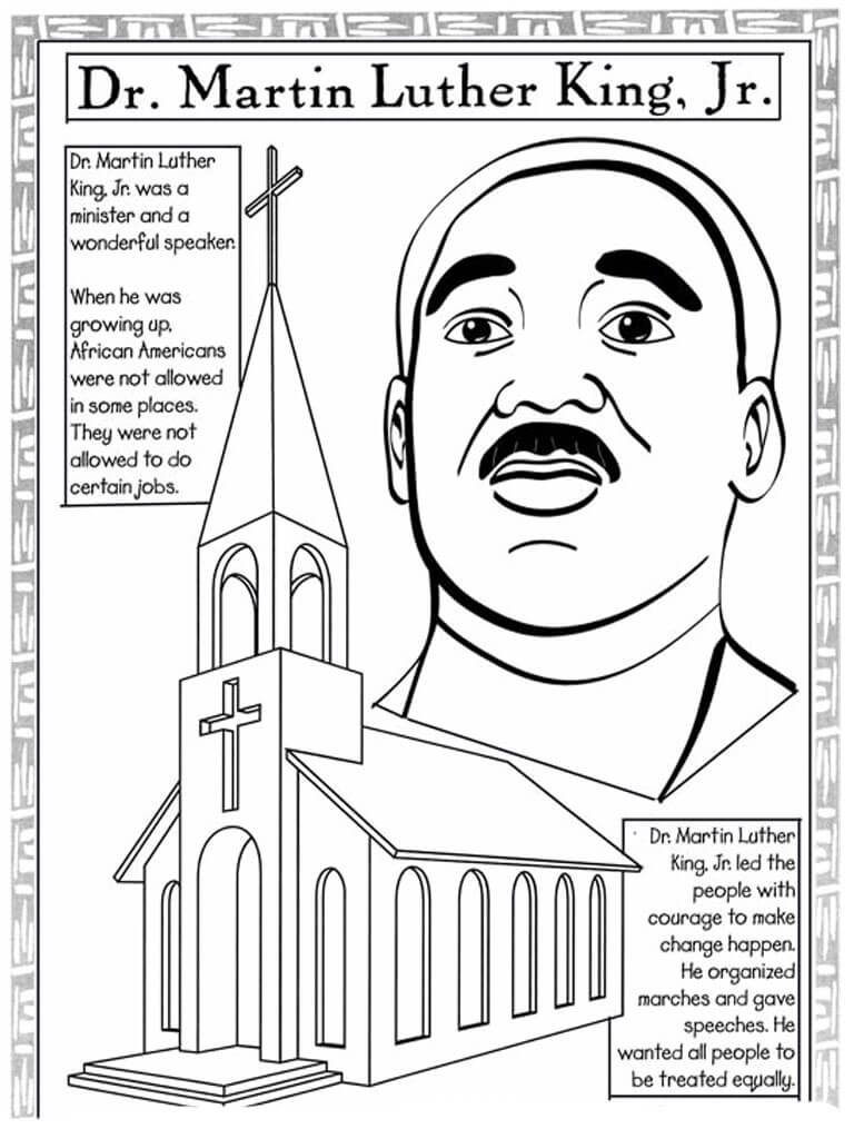 Printable martin luther king coloring pages scribblefun for Martin luther king day coloring pages