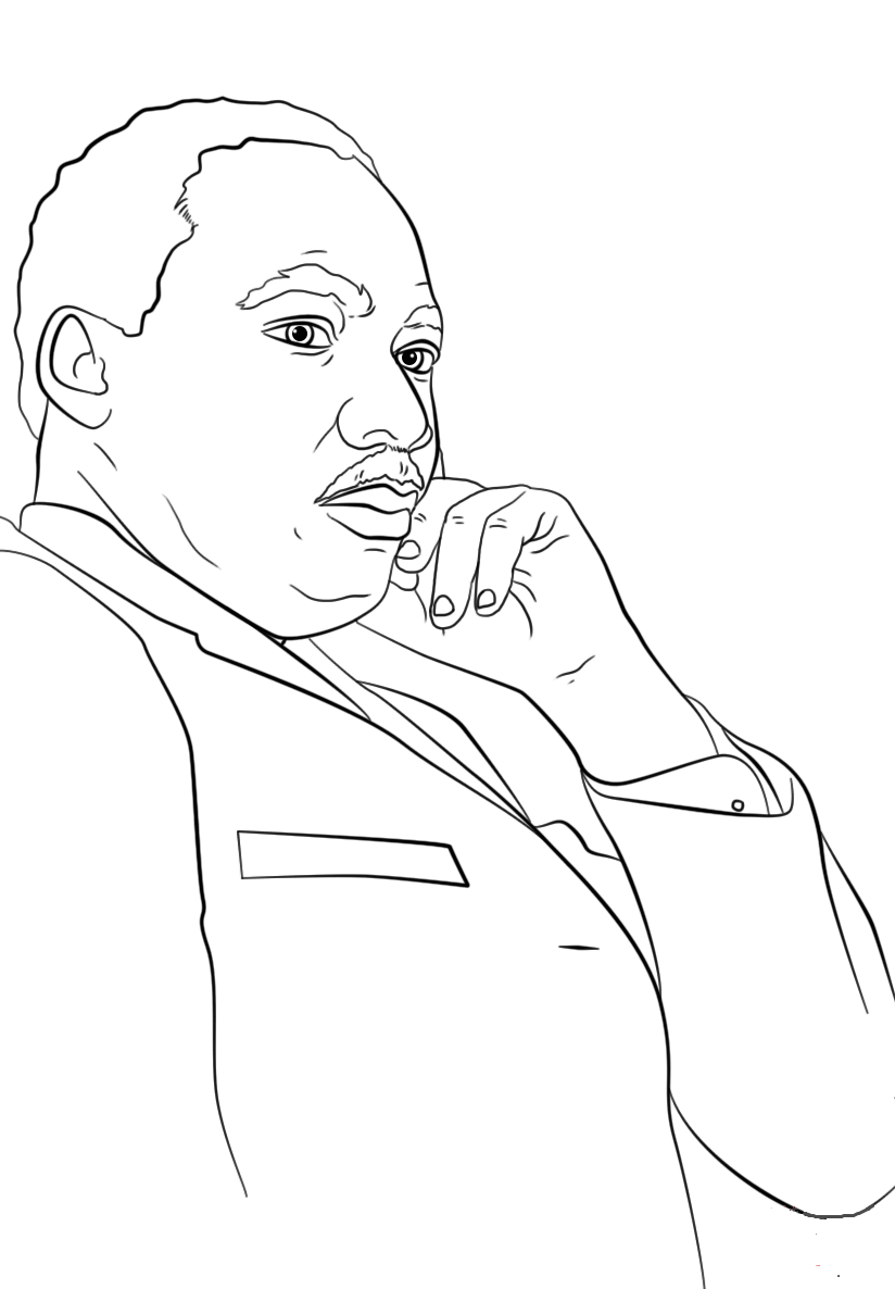 Printable Martin Luther King Jr Coloring Pages