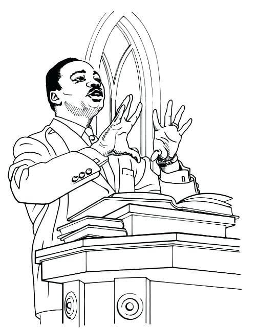 Free Printable Martin Luther King Jr Day Coloring Pages MLK Day