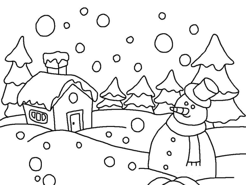 Printable Snow and Winter Coloring Sheets