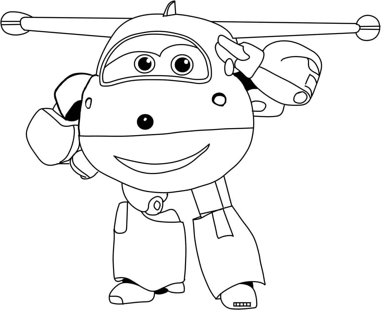 Printable Super Wings Coloring Pages Jett