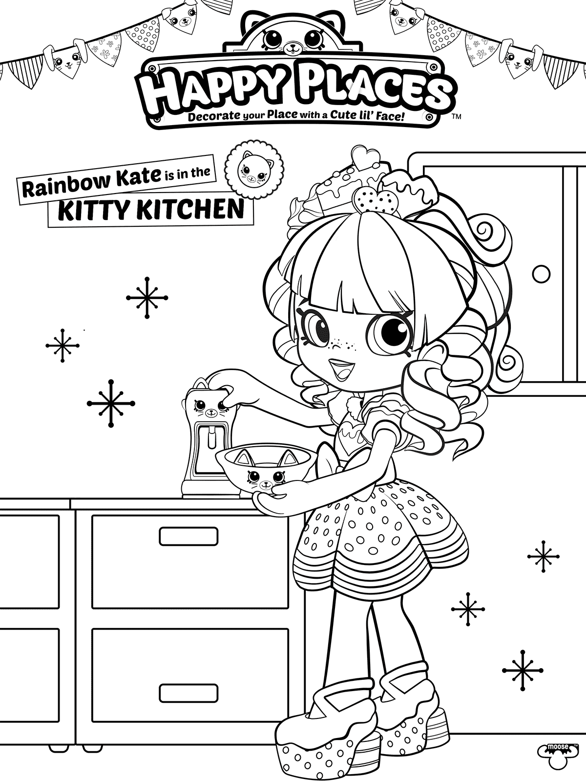 Rainbow Kate Shopkins Happy Places Coloring page