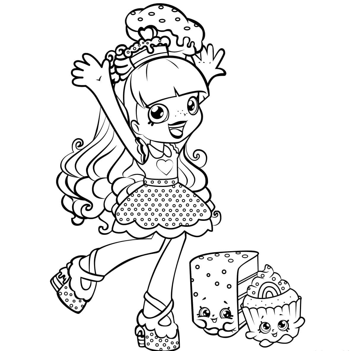 Rainbow Kate Shopkins Shoppies coloring pages