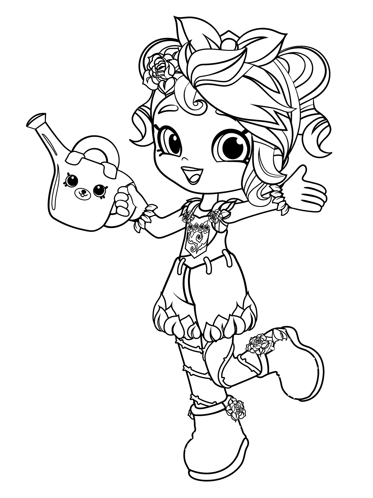 Rosie Bloom Shoppies Coloring page