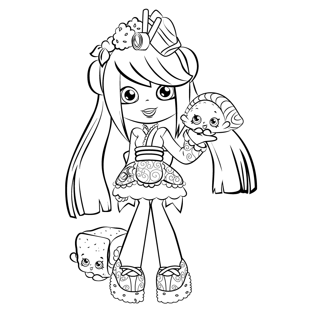 Sara Sushi Shopkins Shoppies coloring pages