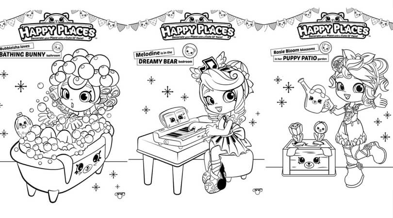 Shopkins Happy Place Coloring Pages