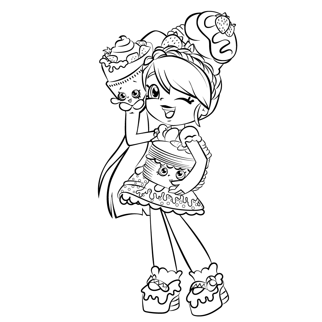 Shopkins Shoppies Pam Cake Coloring Pages