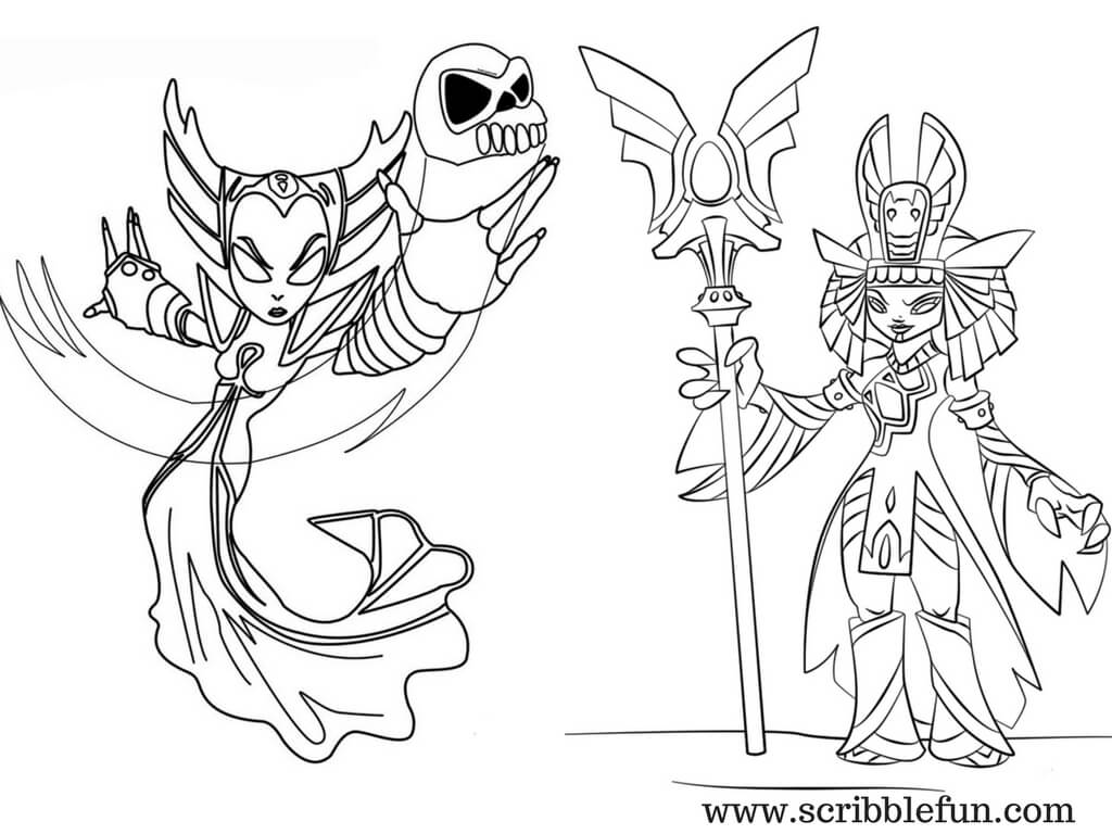 Skylanders Coloring Pages Printable