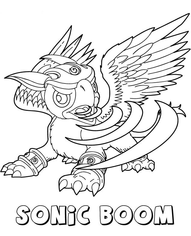 Sonic Boom from Skylanders Coloring Pages