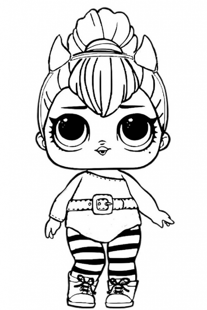 Lol spice doll coloring page