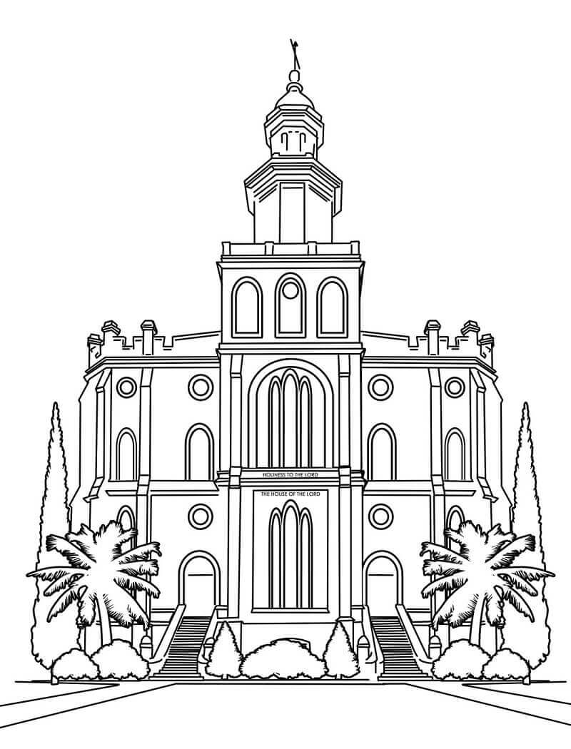 St. George Utah Temple LDS Temple Coloring Pages