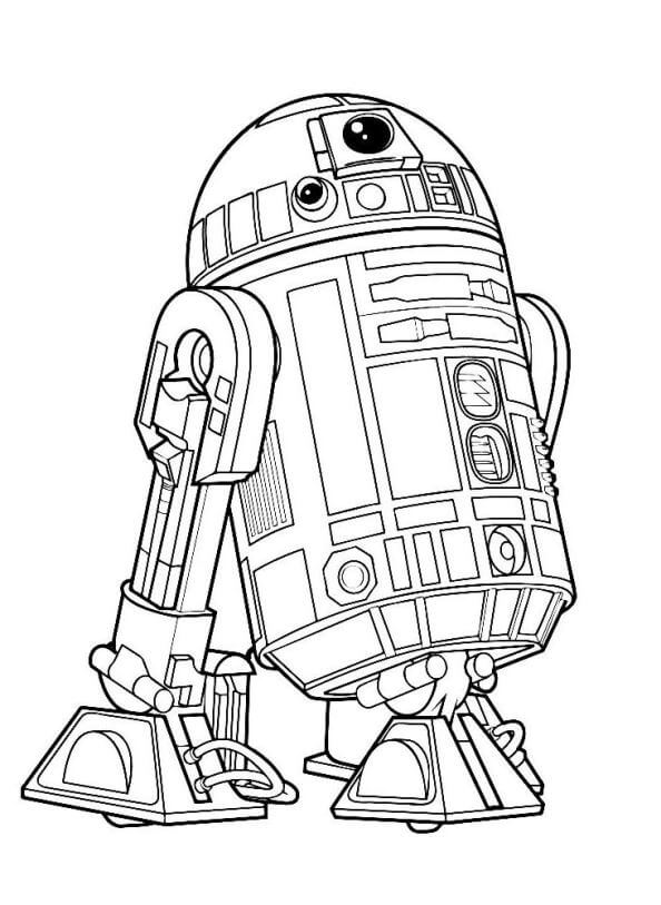 Star Wars Droid R2 D2 Coloring Pages