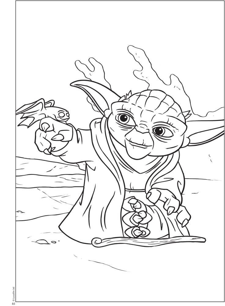 Star Wars Master Yoda Coloring Pages