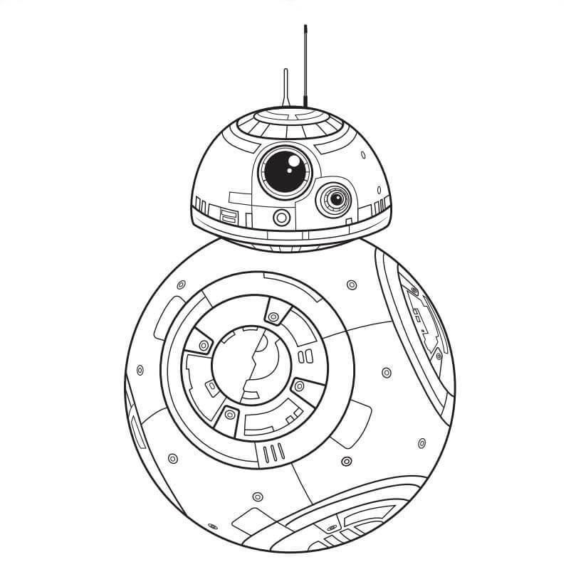 Star Wars The Last Jedi STAR WARS BB8 Coloring Page