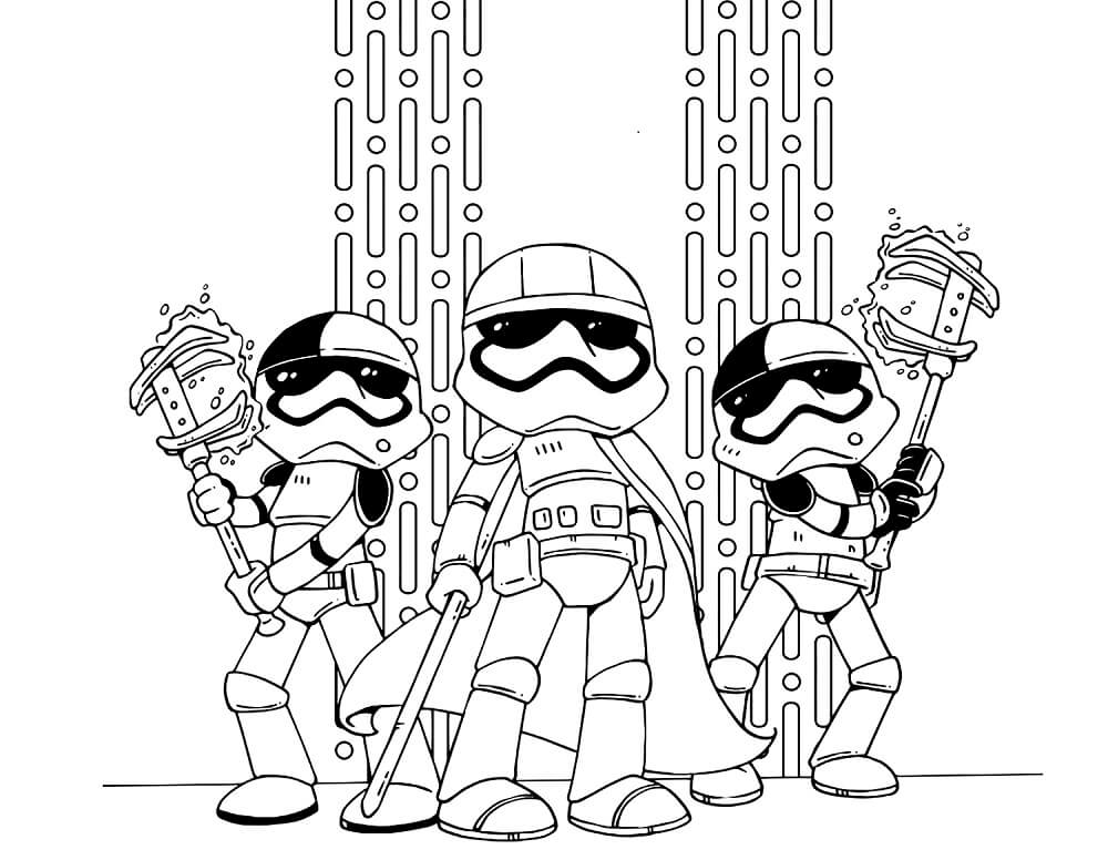 Star Wars The Last Jedi Storm Troopers Coloring Page