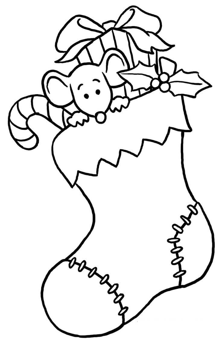 Stockings Winter Coloring Pages