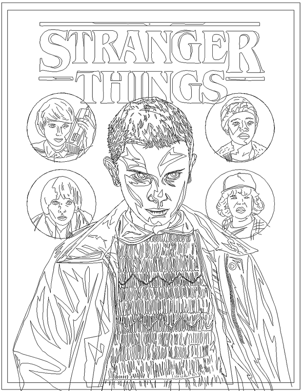 Stranger Things Coloring Page Printable