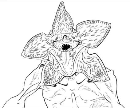Stranger Things Coloring Pages demogorgon