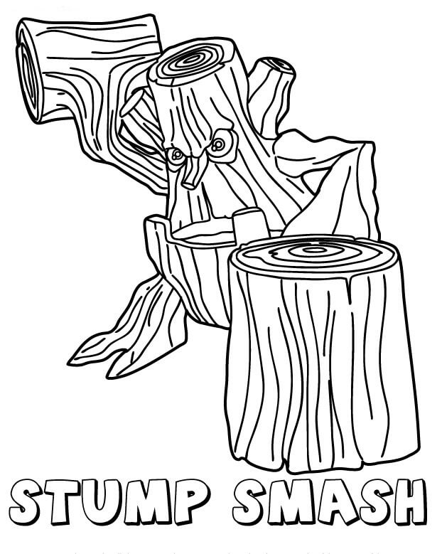 Stump Smash from Skylanders Coloring Pages