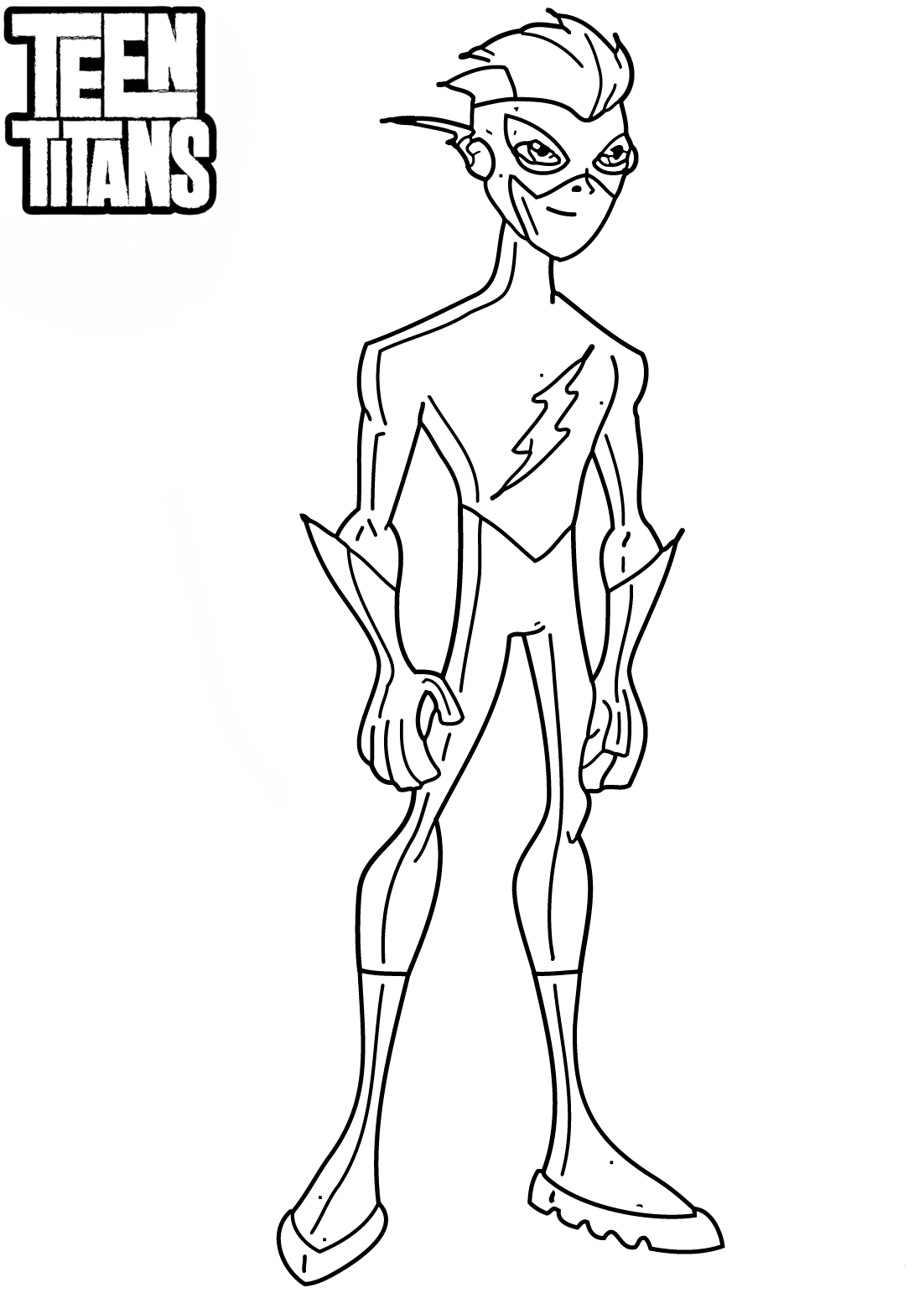 Teen Titans Coloring Page Kid Flash
