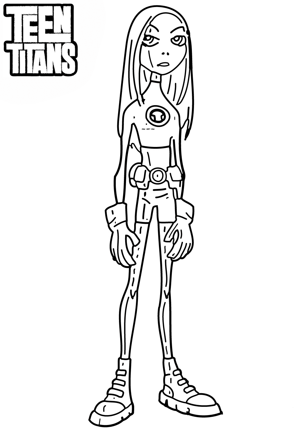 Teen Titans Coloring Page terra
