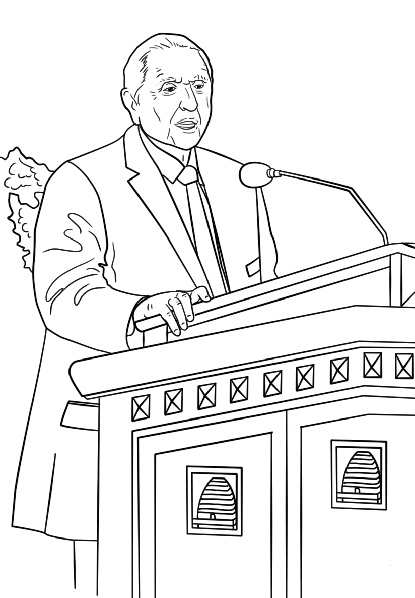Thomas S Monson LDS coloring pages