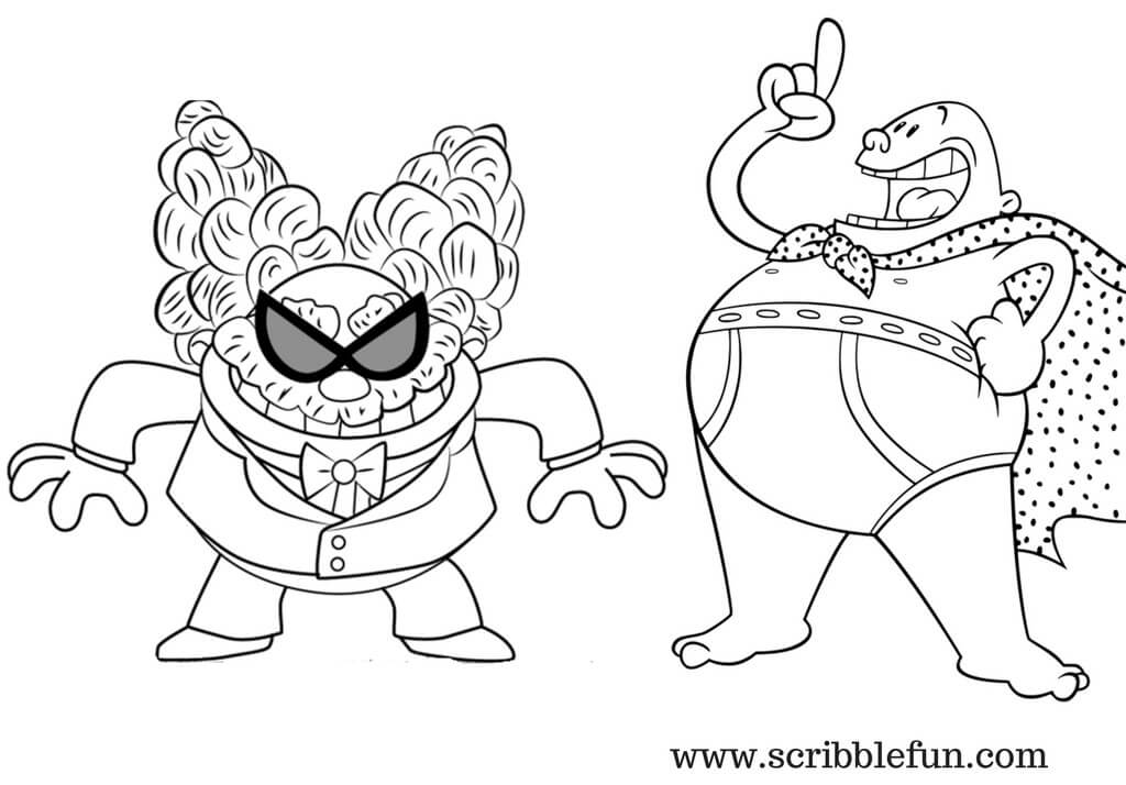 Tippy Tinkletrousers and Captain Underpants Coloring Pages