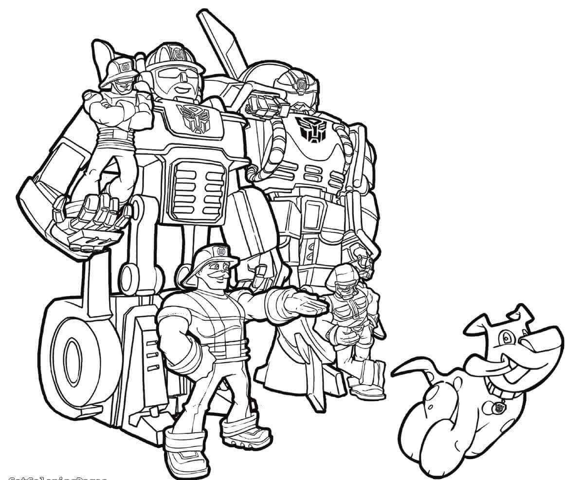 rescue bots heatwave coloring page 20 printable transformers rescue bots coloring pages