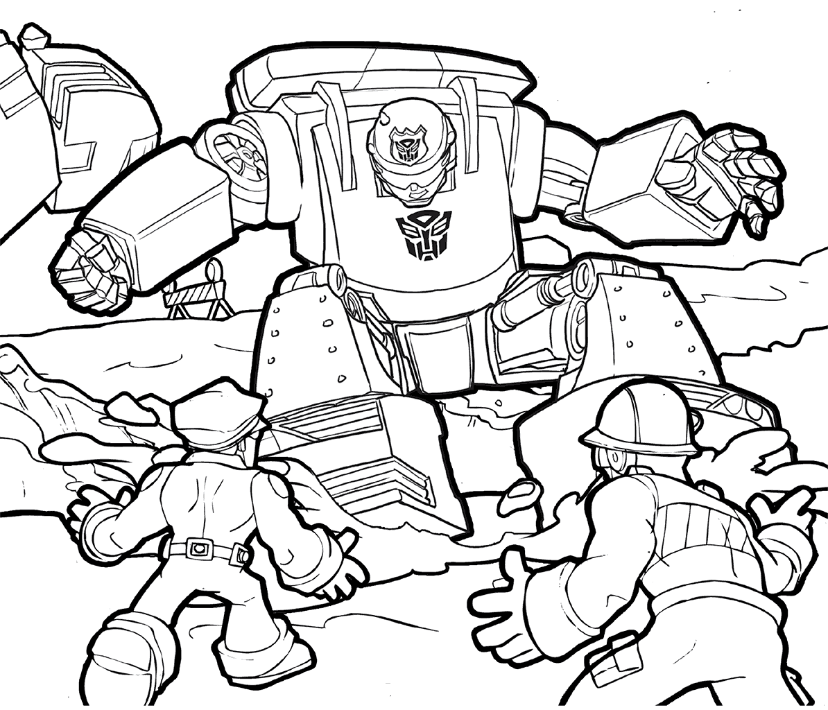 Transformers Rescue Bots Chase Coloring PAGE