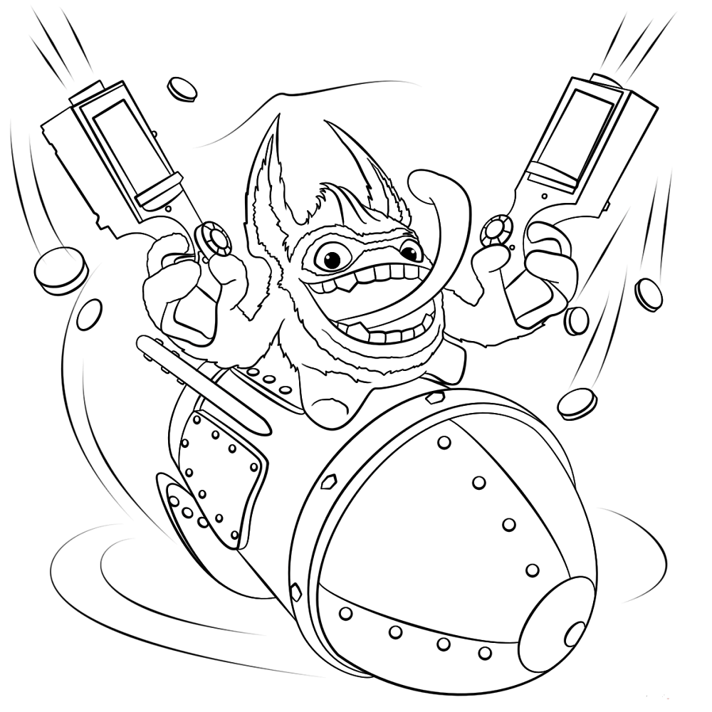 Trigger Happy Skylanders Coloring Pages