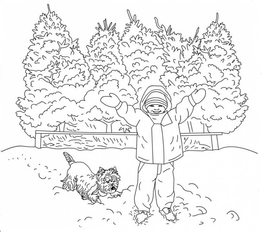 Full Page Printable Winter Coloring Pages Full Best Free