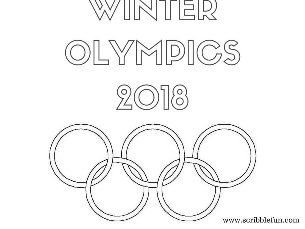 Winter Olympics 2018 coloring pages