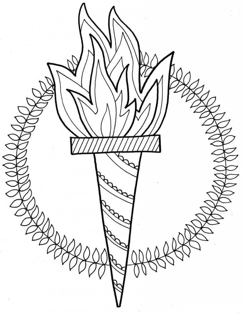 Winter Olympics Torch Coloring Pages Free Printable, winter olympics coloring pictures, winter olympics 2018 coloring images printable