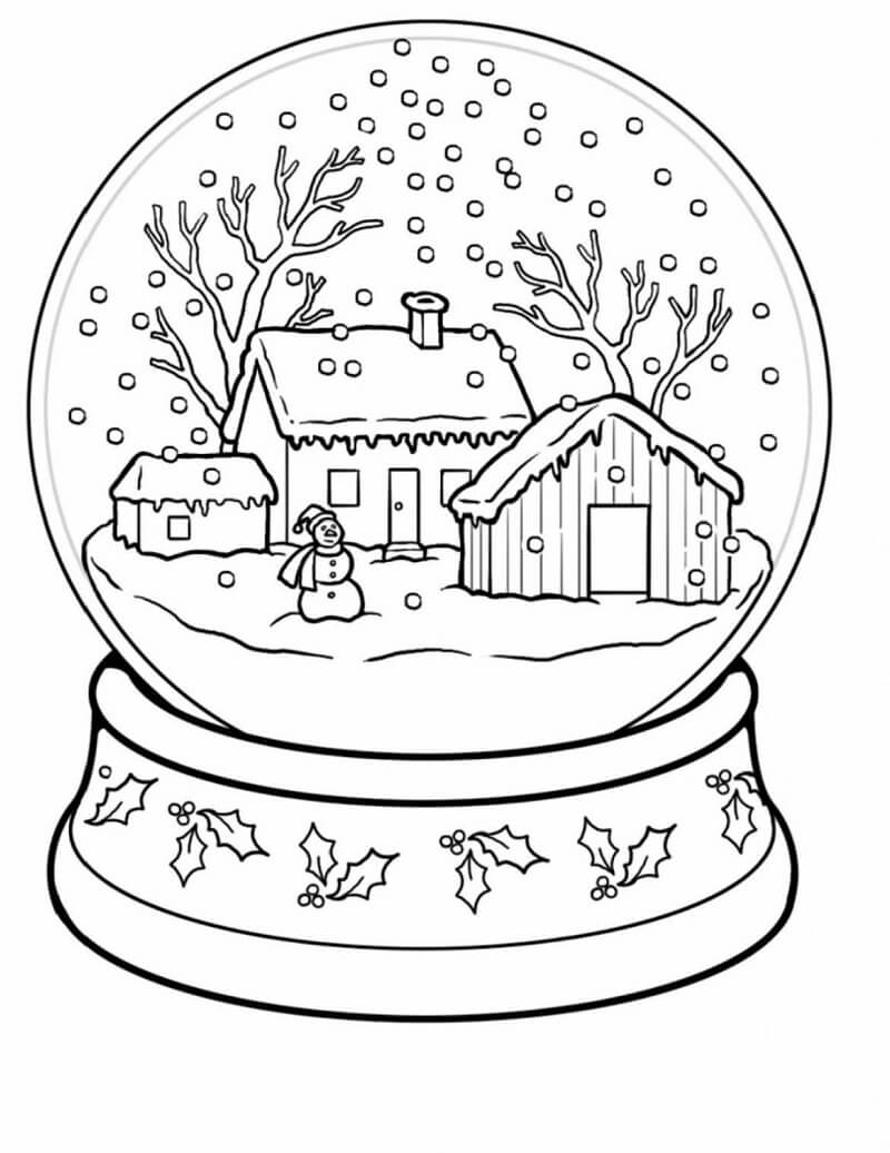 Winter Wonderland Coloring Pages