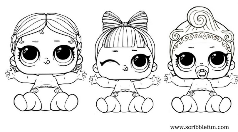 Lol Suprise Doll Coloring Pages Free Printable