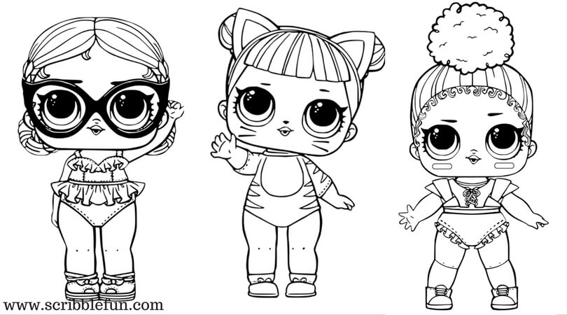 Free Printable LOL Surprise Dolls Coloring Pages