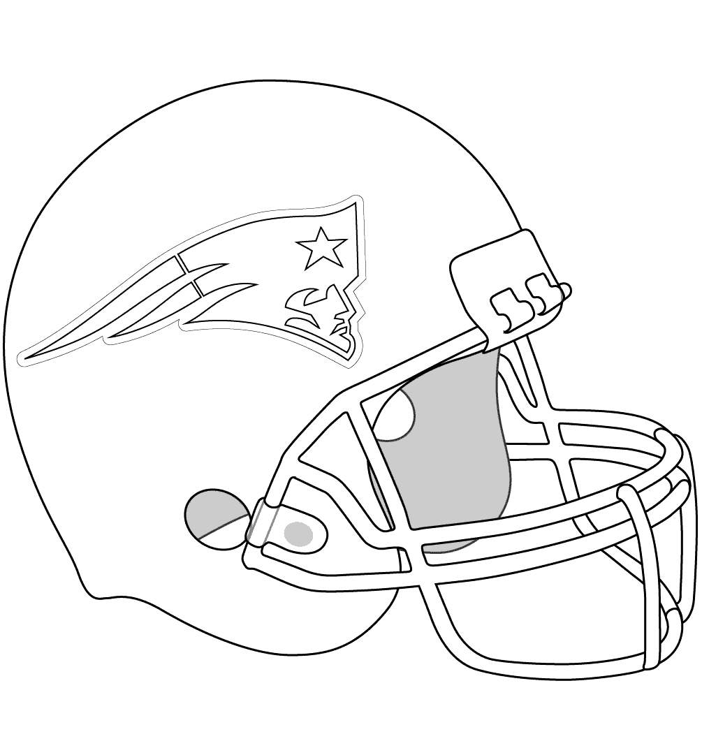 new england patriots coloring pages helmet